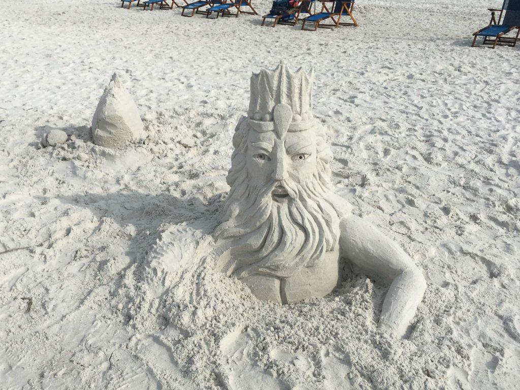 Poseidon Sandsculpture