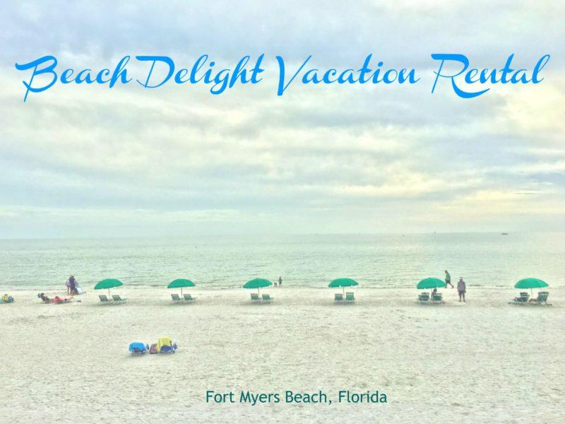 Umbrellas on Fort Myers Beach, Florida