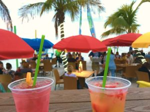 Drinks at The Salty Crab Bar & Grill on Fort Myers Beach