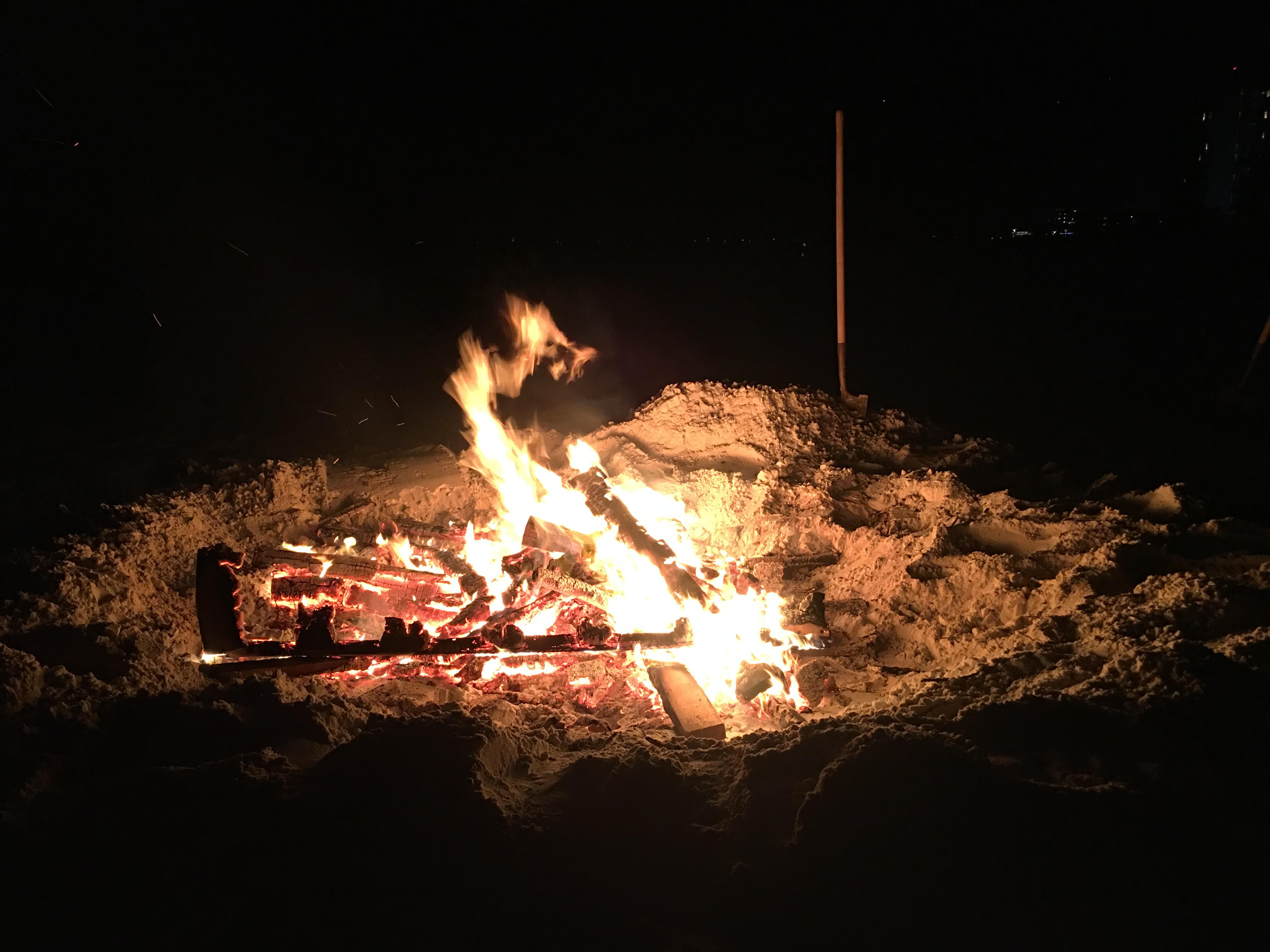 New Year's Eve Fire on the Beach