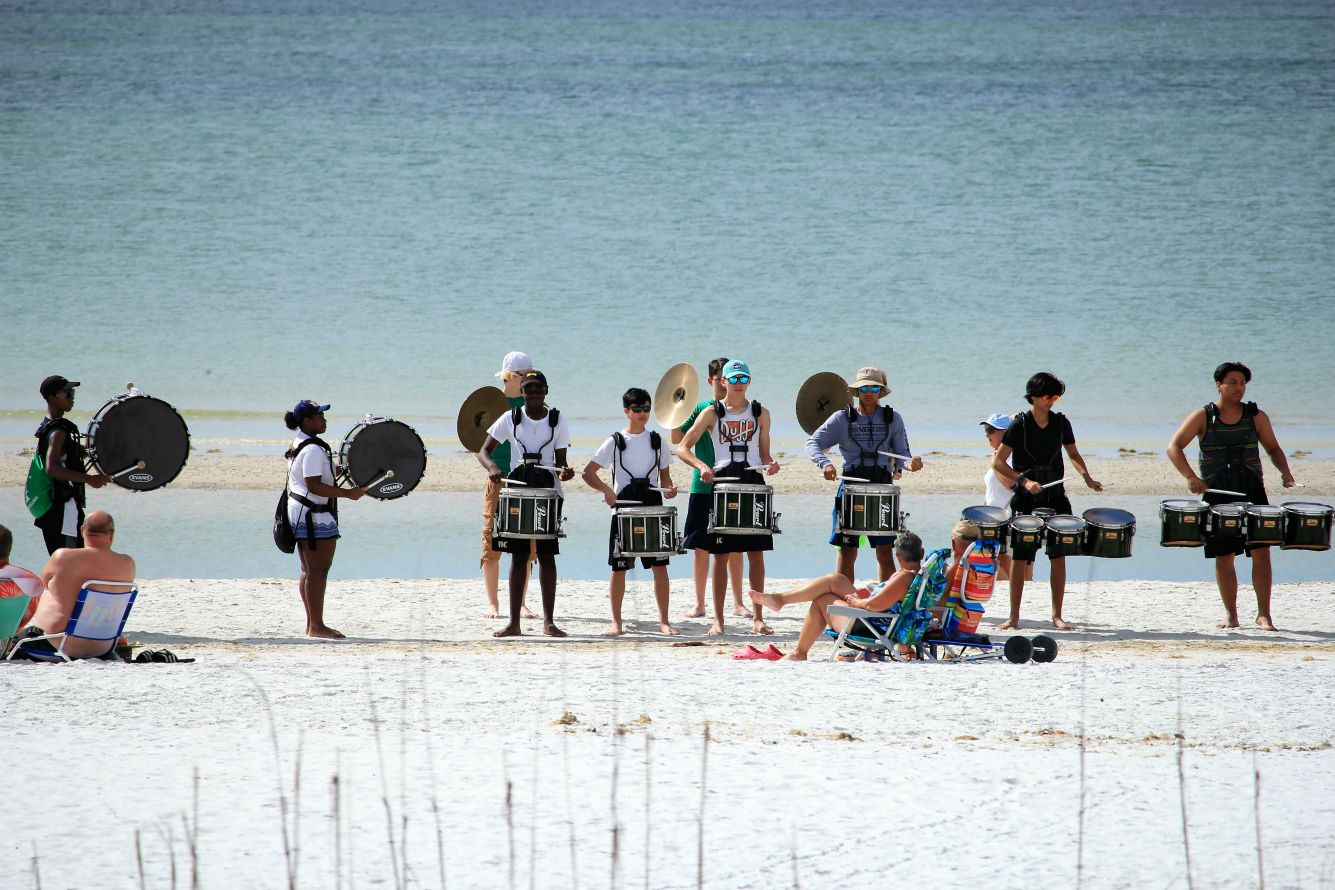 High School Band on Fort Myers Beach