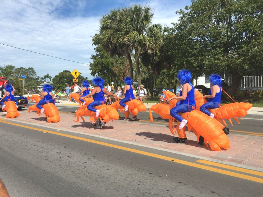 Riding Lobsters in Parade