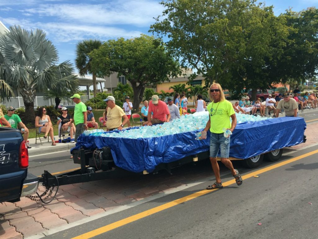 Water Bottle Parade Float