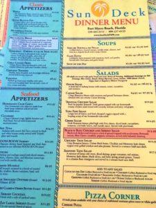 Sundeck at Lani Kai Dinner Menu