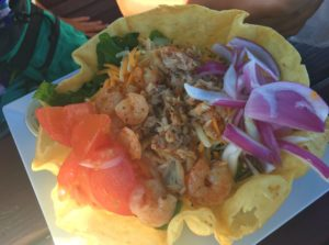 Sundeck at Lani Kai Seafood Taco Salad