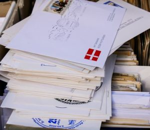 Stack of mailed envelopes