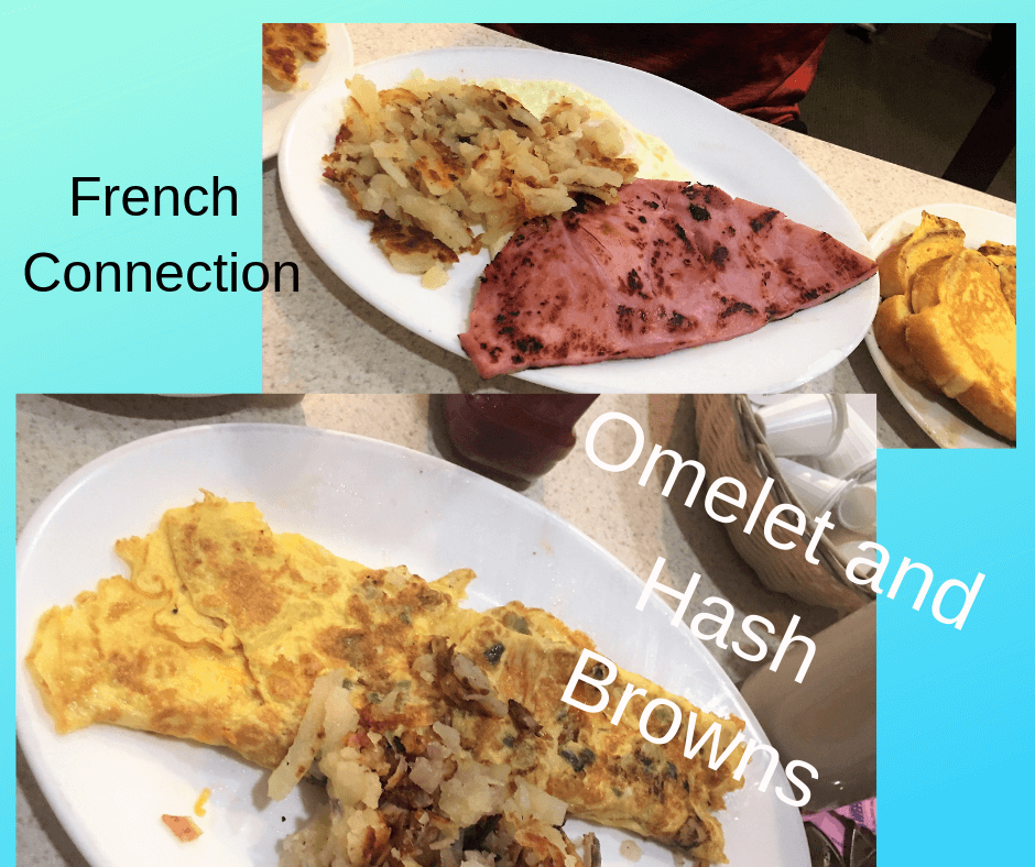 French Connection and Omelet Plates at Sunflower Cafe in Fort Myers Beach, Florida