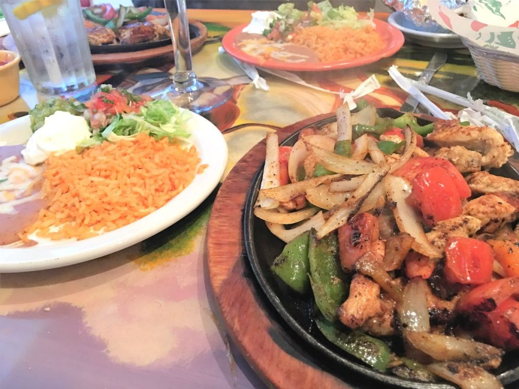 Chicken Fajitas and Side Plate