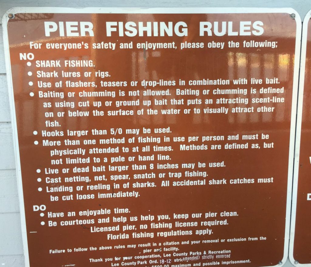 Pier Fishing Rules