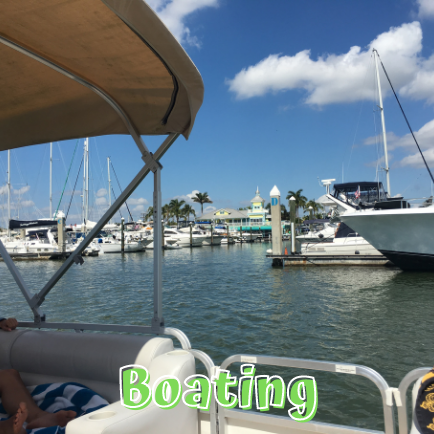 Rent a pontoon and go boating