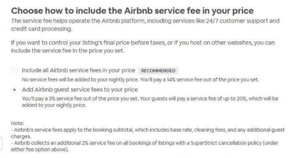 AirBnB Recommends Homeowners bury AirBnB's fee