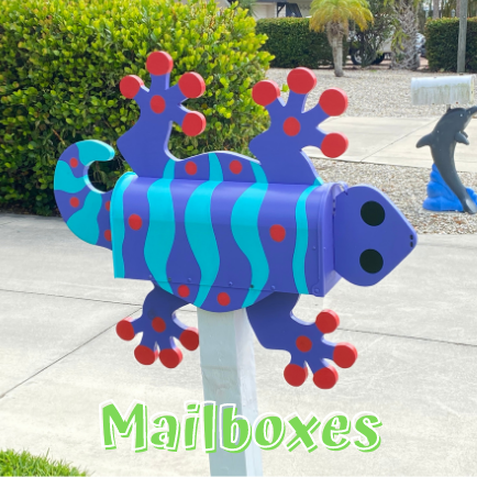 Eclectic Mailboxes in Fort Myers Beach