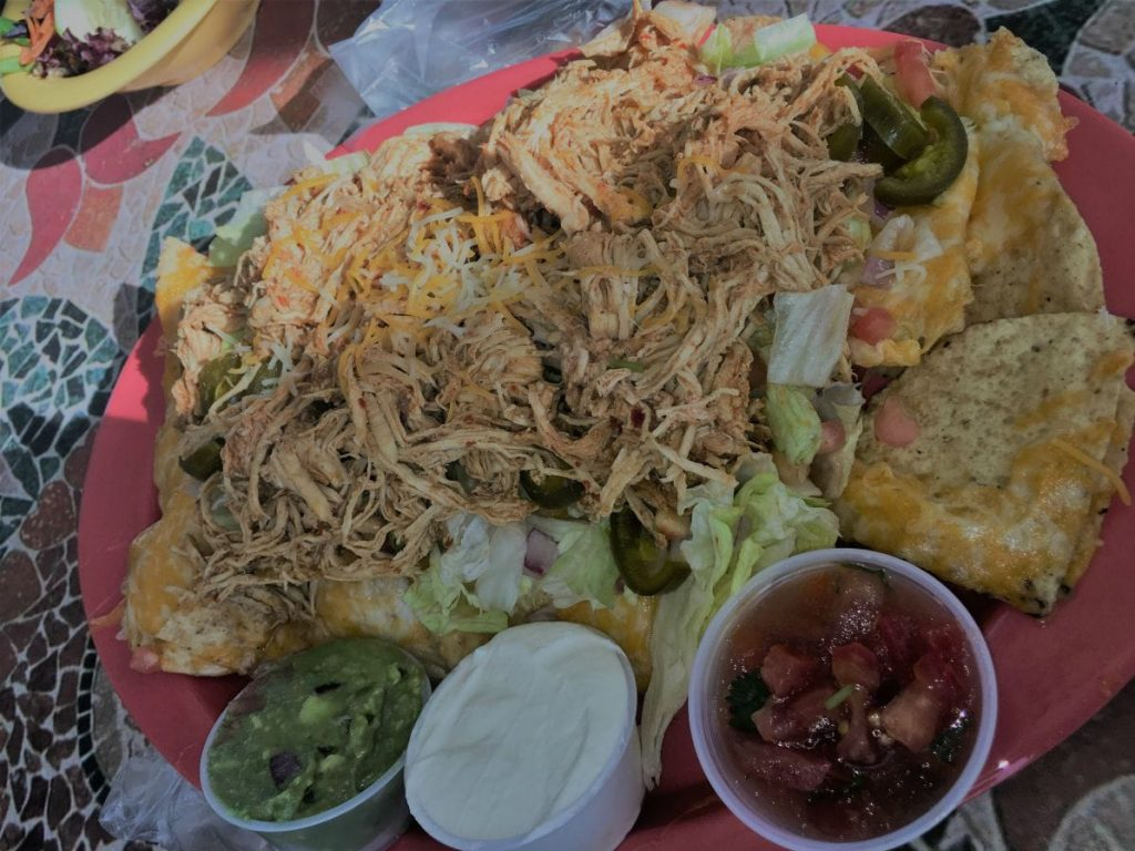 La Ola Surfside Restaurant - Chicken Nachos