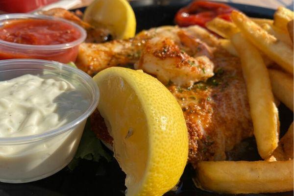 Blackened Shrimp and Fish Platter