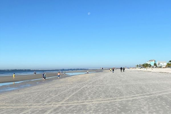 Wide BEach at Low Tide