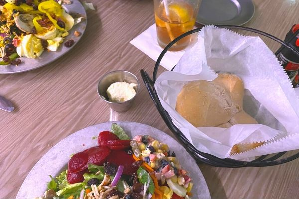 Charley's Salad, Rolls and Butter