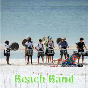 High School Marching Band on Beach